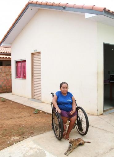 Dilma foi contemplada com a casa por meio da cota especial