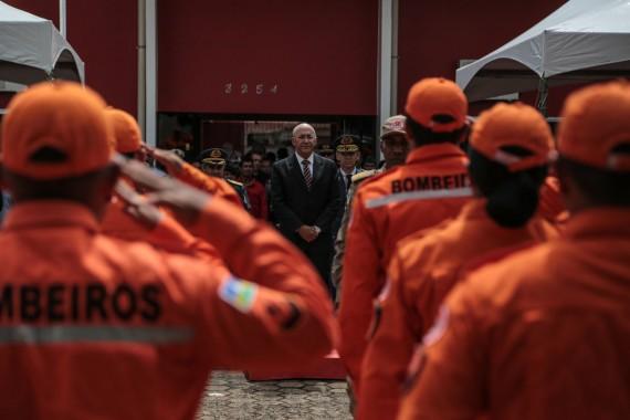 Governador enalteceu o trabalho dos bombeiros