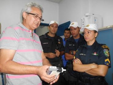 Policiais Militares recebem orientações em relação aos aparelhos etilômetros