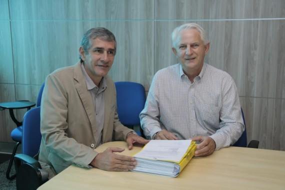 Rodnei apresenta projeto do Biancão ao deputado Aiton Gurgacz