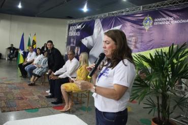 Secretária Fátima Gaviolli abriu evento