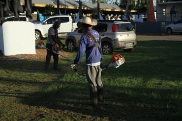 Parque ganha últimos reparos para a abertura da feira