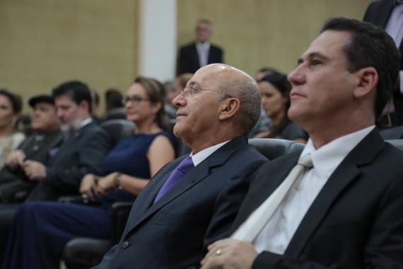 Governador Confúcio Moura durante a posse do procurador-geral, Airton Pedro Marin