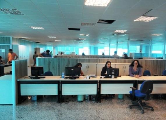 Servidores da Sejus em ambiente de trabalho