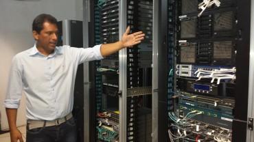 Fábio Folly, engenheiro da Detic responsável pela Infovia em Rondônia