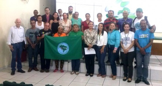 A reunião contou com a participação de catadores de diversos municípios