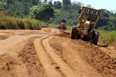 A Regional do DER em Ariquemes tem a responsabilidade de cuidar de quase 850 km de estradas.