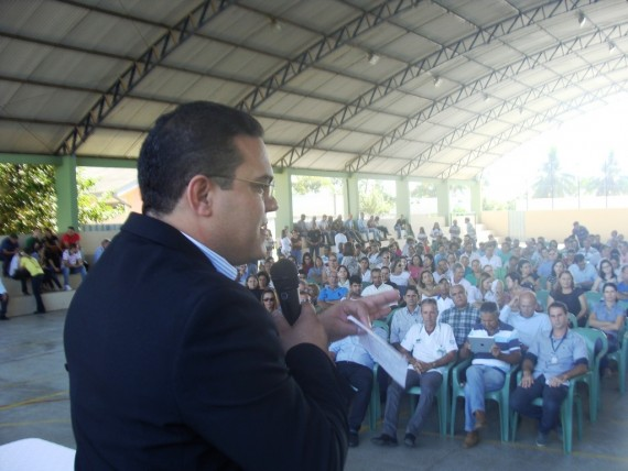 George Braga na abertura da audiência pública