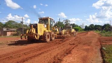 Grande parte das ruas não pavimentadas de Pimenta Bueno estão sendo recuperadas