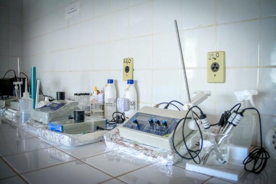 Laboratório para análise da água