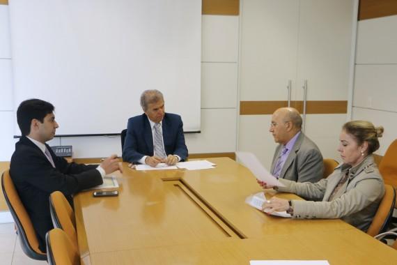 Confúcio Moura em reunião com Edinho Araújo, ministro da Secretaria Especial de Portos