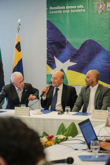 Governador Confúcio Moura fala do compromisso do ministro com Rondônia e o Brasil