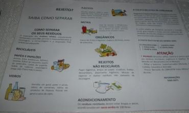 Panfleto distribuído pela prefeitura de Cerejeiras