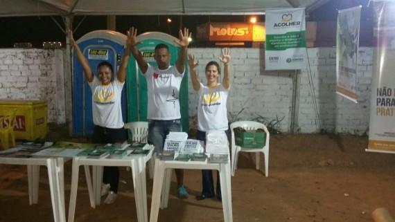 Equipe da Sepoad participou do Duelo da Fronteira orientando o público sobre os riscos das drogas