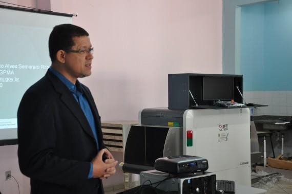 Secretário Macos Rocha explica distribuição e uso dos equipamentos doados pelo Depen