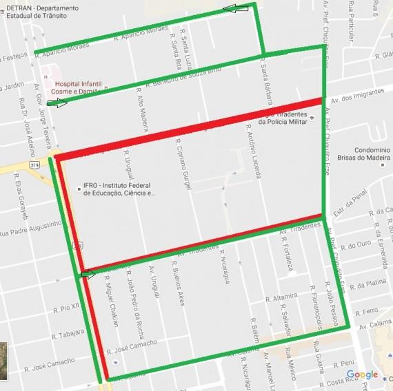 Bloqueio de ruas desfile DE 7 DE SETEMBRO