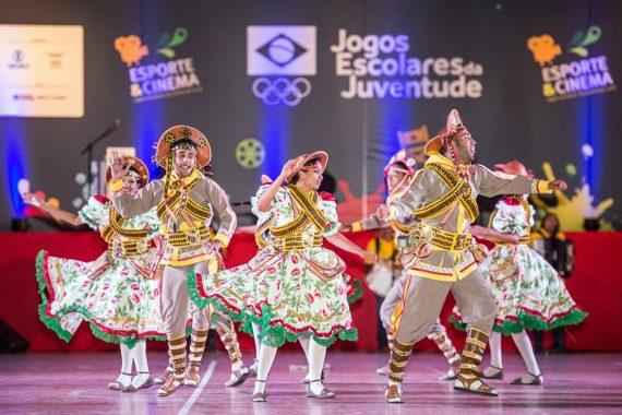 Dança folclórica marcou a abertura dos Jogos Escolares em João Pessoa