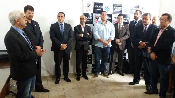 Solenidade de posse do novo diretor-geral adjunto da Polícia Civil, Antônio Carlos dos Reis, com a presença de servidores da instituição