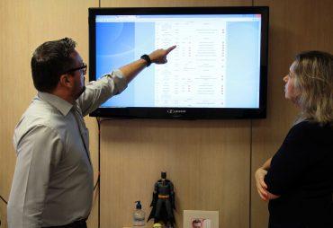 Cléber explica o funcionamento do SIgaNEt responsável pelo monitoramento dos serviços