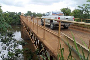 Ponte atual foi construída no início da década de 80