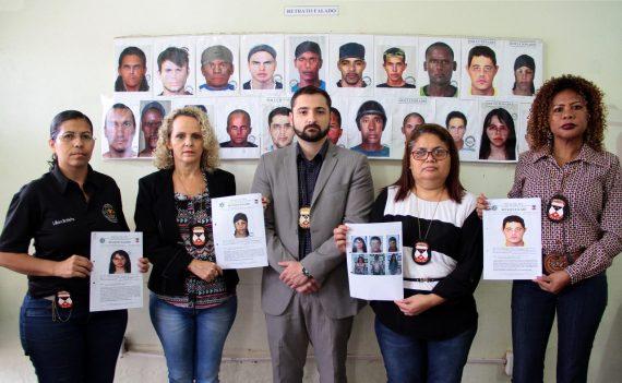 Profissionais dos IICC responsáveis pelos retratos falados em Rondônia com o diretor Júlio Kasper