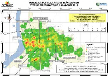 Mapeamento dos pontos com maior índice de acidentes em Porto Velho