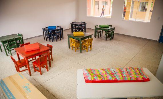 Novas instalações da escola reconstruída na parte alta do distrito