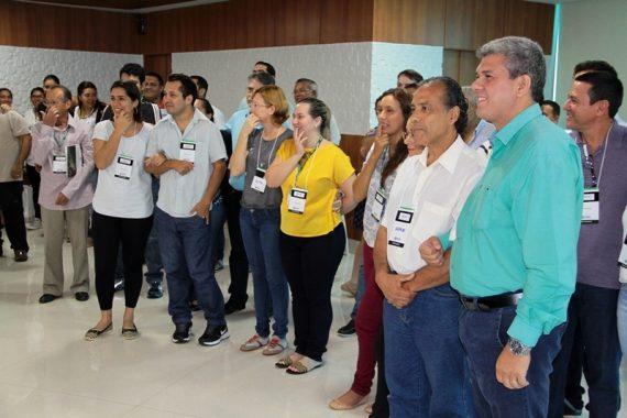 Secretário Vilson de Salles acompanha com assessores e técnicos a apresentação do planejamento dstratégico da Sedam