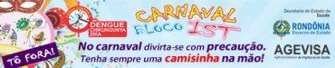 Banner Agevisa - Carnaval Bloco IST 2017