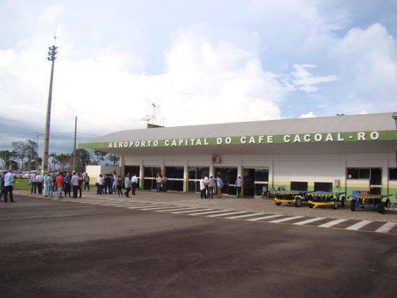 Os aeroportos de Cacoal, Ariquemes e Ji-Paraná estão assegurados na primeira fase do Programa de Aviação Regional