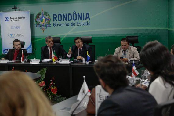 Reunião dos controladores de estados segue até esta sexta-eira, em Porto Velho
