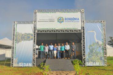 Entrada do estande da Sedam na Rondônia Rural Show.