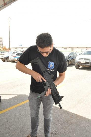 Os novos armamentos estão sendo entregues em todas as unidades prisionais do estado.