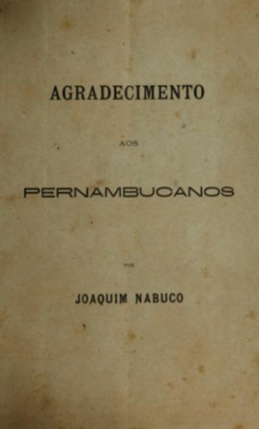 AGRADECIMENTOS AOS PERNANBUCANOS