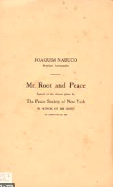 MR. ROOT AND PEACE