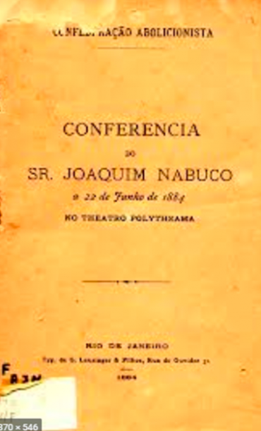 CONFERÊNCIA DO SR. JOAQUIM NABUCO