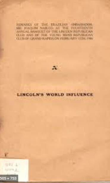 LINCOLN_S WORLD INFLUENCE